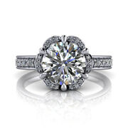 Real Diamond 0.90ct Solitaire Engagement Rings Solid 14k White Gold Ring Size 7