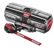 Warn 101130 Axon 3500-s Winch 50and039 3/16 Synthetic Rope 3500 Lbs Atv Utv Offroad
