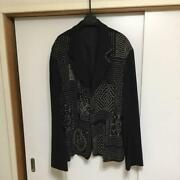 Yohji Yamamoto Pour Homme 90s Mens Jacket Size M Used Genuine F/s From Japan