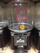 Beaver Burgundy And Chrome Gumball Candy Nut Bulk Vending Machine With Lock And Key