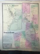 Town Of North East, Millerton, Dutchess County, Ny 1867 Lithograph By F.w. Beers