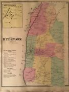 Town Of Hyde Park Dutchess County Ny 1867 Lithograph By F.w. Beers