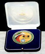 1986 Fifa World Cup Participant Medal Issued To Algerian Player W/original Box