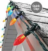 Noma C9 Led Quick Clip Christmas Lights, 25 Lights | Simple Built-in Clip-on