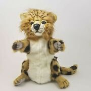 Cheetah Full Body Hand Puppet By Hansa Realistic Look Plush Animal Learning Toys