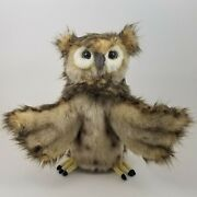 Owl Full Body Hand Puppet By Hansa Realistic Look Plush Animal Learning Toys