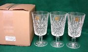 Cristal Dand039arques Villemont Ice Tea Glasses Set Of Three Mint In Box More Avail