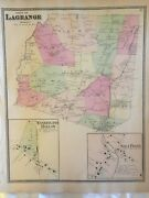 Town Of Lagrange Dutchess County Ny 1867 Lithograph By F.w. Beers