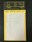 Cds Lettering Dry Transfers Ho Scale 26 Grand Trunk Western Gtw Boxcar Set New