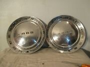 Vintage 2 1952 Ford Hubcaps/wheel Covers For Crestline Victoria 15 Wheels