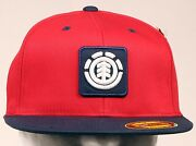 Element Skateboards Fenwick Red Fitted Hat Cap Size S/md Retro Style