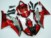 Metallic Red Matte Gray Abs Injection Mold Fairing Kit Fit For Yzf R6 2008-2016