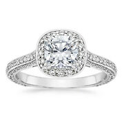 14k White Gold 0.95ct Natural Diamond Engagement Wedding Rings Solid Size 8 7