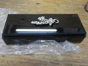 Bejeweled Glass Jewelry Boxes J200s Crystal Panther Design, 10 X 4 X 2, Black