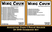 Wing Chun Kung Fu With Augustine Fong And Philip Holder Combined 24 Dvd Set