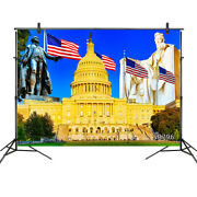 Presidentand039s Day Us Capitol Flags Statues 10x8ft Photo Background Vinyl Backdrop