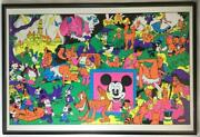 The Disneyland Memorial Orgy Poster Rare 1970and039s From Japan Free Shipping