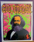 Kozik Good Enough A/p Silk Screen Limited 50 Karl Marx Poster With Autograph F/s
