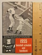 1955 Baseball Schedule And Handbook Howard Clothes..clemente Rookie - 1202
