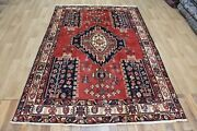 Old Handmade Persian Bakhtiari Rug With Great Design And Colour 240 X 160 Cm