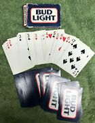 Bud Light Anheuser Busch Playing Cards Set Deck In Box Used