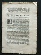 1755 Papal Provision Liberty Of Indians On Brasil, Paraguay - Society Of Jesus