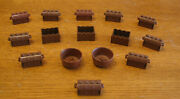 Lego Lot Of 15 Chests And Pots Old Brown New Brown Parts Accessories