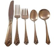 Breath Of Spring Ii By Amston Sterling Silver Flatware Set Service 33 Pieces