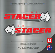 Stacer Australia No Background Fishing Boat Mirrored Sticker Decal Set Of 2