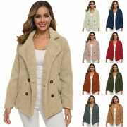 Black Friday Deals Winter Warm Casual Sweaters Lapels Loose Jacket Long Sleeve