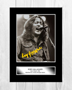 Rory Gallagher 3 A4 Reproduction Autograph Poster With Choice Of Frame