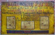 Alemite Lubricant Sign Old Embossed Tin Gas Station Repair Shop Advertising