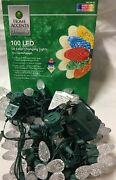 100 Led C6 C-6 Color Changing Lights Christmas Holiday Warm White Or Multi Color