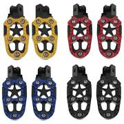 2pcs Universal 8mm Metal Motorcycle Foot Pegs Pedals Footrests With Spring Nigh