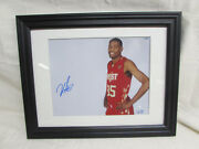 Kevin Durant Autographed Nba Western All-star 8x10 Photo In Frame Sgc Authentic