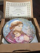 Edna Hibel Mothers Day Plate 1986 Emily And Jennifer Edwin M Knowles Baby Gift