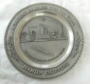 Hanjin Shipping Co Official Plaque 4000 Teu Container Vessel Bokwang Pewter