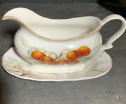 Charter Club Summer Grove Gravy Boat And Underplate Fruit