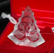 Waterford, 12 Days Christmas, 1999 Ornament, 5 Golden Rings, Rare, Htf, C Photos