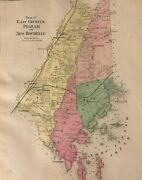 Plans Of East Chester Pelham And New Rochelle 1867 Lithograph By F.w. Beers