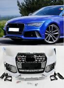 Rs7 Style Front Bumper Grille Set Kit Fits 2016-18 A7 S7 Rs7