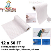 Vinyl Transfer Paper Tape Roll Cricut Adhesive For Wall Window Craft 12 X 50 Ft