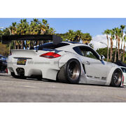 New For 987.2 Cayman 09-12 Wide Body Kit Rb Style Front And Rear Fender Add On Frp