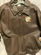Disney 50th Anniversary Leather Jacket, Size Large, Embroidered On Both Sides