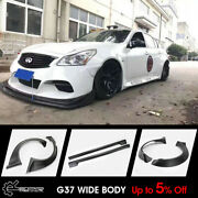 For Infiniti G37 4door Tp Style Frp Wide Body Kit Front/rear Fender/side Skirts