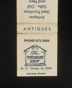 1960s The Piedmont Shop Antiques Used Furniture Gifts Route 15 Map Orange Va Mb