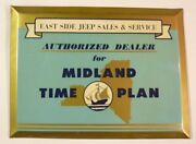 East Side Jeep Sands Auto Dealer Midland Time Plan Old Sign Permanent Reading Pa