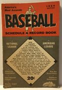 1959 Baseball Schedule And Record Book