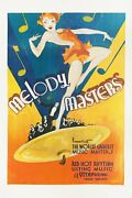 Melody Masters 1933 U.s. One Sheet Poster