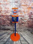 Gulf Gas Vintage Acorn Glass Gumball Machine Candy Penny Machine Holiday Gift